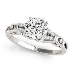 Transcendent Brilliance 14k Gold 3/5ct TDW Diamond Split Shank Engagement Ring (G, VS2) (White - Size 6.5), Women's, Pink