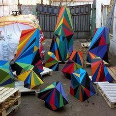 Matt W Moore Geometric Sculptures