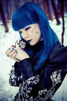 Just a collection of pretty things Rose Shock, Adora Batbrat, Gothic Looks, Victorian Goth, Cybergoth, Dark Beauty, Pastel Goth, Gothic Fashion, Shades Of Blue