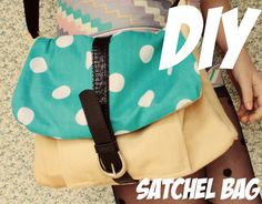I've been having a lot of fun making satchel bags after I figured out how to make them back in this post . This one was slightly differ...
