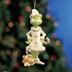 """Seuss's Grinch Ornament """"A Very Grinchy Christmas"""" Grinch Christmas Tree, Lenox Christmas, Christmas China, Winter Christmas, Christmas Tree Ornaments, Christmas Crafts, Christmas Decorations, Holiday Decor, Lenox Ornaments"""
