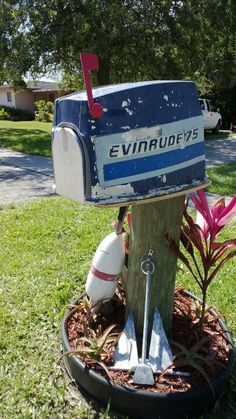 My first boat cowling. Converted to mailbox. Easy. Photo...Chris Hamrick