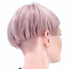 Pink Blonde Layered Bowl Cut