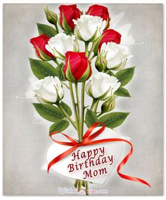Card with Birthday Wishes for Mom