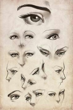 Eyes eye sketch, sketches of eyes, drawing sketches, pencil drawing Drawing Techniques, Drawing Tips, Drawing Sketches, Pencil Drawings, Painting & Drawing, Sketching, Sketches Of Eyes, Drawing Practice, Figure Drawing