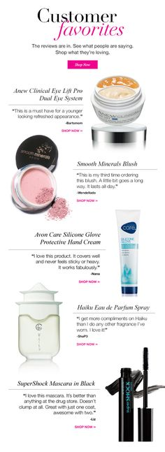 Some of Avon's Customers' Favorites -- Click Here to See if Your favorite is Listed  youravon.com/kimbrown