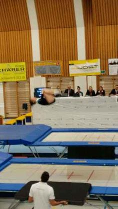 Play this Trampolining video with Sylvie Moret Basketball Court, Play