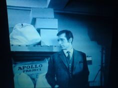 Department S - Stewart (Joel Fabiani) investigating at the space institute (in 'The Man From X')