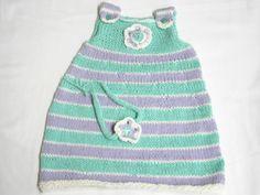 Kleidchen + Haarband pastell Gr.68-74 von BlackSheepFactory auf DaWanda.com