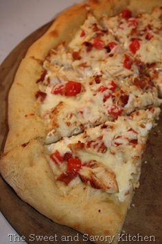 Recipe for Chicken Bacon Ranch Pizza