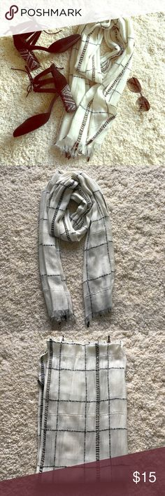 🆕 Plaid sequined scarf Cute plaid sequined scarf from Ann Taylor Factory. Raw edges. Clear and gold sequins. Heavy material. Great for keeping warm in the winter or in the summer for those of you in cold offices. ❗️Sorry, I do not trade.❗️ Ann Taylor Factory Accessories Scarves & Wraps