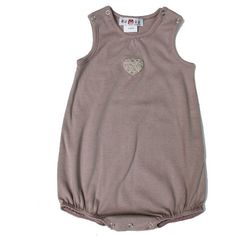 Tendre Deal - 100% jersey cotton dungarees, heart appliqué, Snaps and popper leg openings on the 1st Members only website 100% kids & French Designers