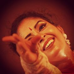 A performer enjoying herself at Contempory Dance Festival at Rabindra Mandap.