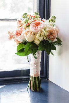 Pretty bouquet: http://www.stylemepretty.com/pennsylvania-weddings/lancaster/2015/04/23/rustic-chic-wedding-at-the-farm-at-eagles-ridge/ | Photography: Harper Parker - http://harperparker.com/