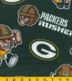 Green Bay Packers NFL Rush Zone Fleece Fabric