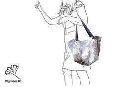 """Cabas """"Le Port"""", Grand sac à main réversible en  tissu  recyclé, cabas, sac à main de la boutique Pigmentit sur Etsy"""