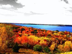 Lake Geneva, WI. Don't miss the fall colors with a Lake Geneva Cruise Line Tour.