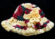 0-6M 14 Baby Girl Floppy Flower Hat Yellow by AshleyfrogHats