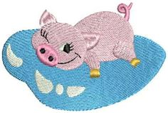 Free Embroidery Design: Piglet