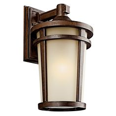 Atwood Family Fluorescent Outdoor Pendant in Brownstone Finish