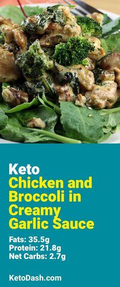 Chicken & Broccoli in Creamy Garlic Sauce