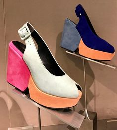 Suede Platform Shoes by Robert Clergerie #suede #suedeshoes #shoes #platformshoes #sandal #colors #robertclergerie #shoedesign #design #fashionable #springfashion #casualfashion #french #style #shoelover #shoedesigner #barneys #manhattan #accessories #accessorieslovers #store #shopping