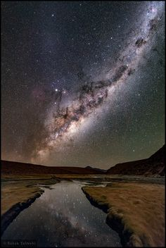 NASA Astronomy Picture of the Day 2016 July 7 The Altiplano Night The Milky Way is massively bright on this cold, clear, altiplano night. At meters its reflection in a river, a volcanic peak on the distant horizon, is captured in this stitched. Cosmos, Astronomy Pictures, Image Of The Day, Space And Astronomy, Dark Skies, Milky Way, Galaxy Wallpaper, Science And Nature, Stargazing