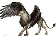 My pride and joy: a digital painting of a griffin using Photoshop Elements 5