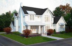 Plan 25406TF: 4 Bed Modern Farmhouse Plan