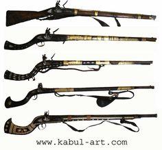 antik Afghanisches Gewehr Steinschloßgewehr