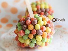 Colorful apple pop
