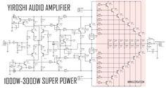 223 best audio schematic images on pinterest in 2018 dc circuitsuper power amplifier yiroshi audio 1000 watt dc circuitcircuit diagramcircuit