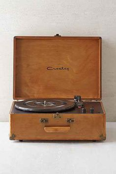Crosley X UO AV Room Wood Portable USB Vinyl Record Player - Urban Outfitters