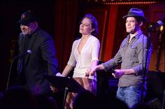 Jeremy Jordan, Laura Osnes, and Frank Wildhorn at the Bonnie and Clyde Reunion Concert