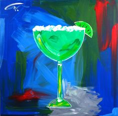 """Margarita""  acrylic on museum stretched canvas  36"" x 36"" x3""  http://www.macworthington.com/paintings.aspx  $750  ©Mac Worthington, artist"