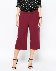 Falda pantalón con pernera ancha