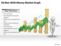 3D Man with Money Market Graph Ppt Graphics Icons Powerpoint #Powerpoint #Templates #Infographics