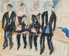 Ernst Ludwig Kirchner (1880-1938), Stepptanz, circa 1911. Watercolour and pencil on paper, 8¼ x 10⅛ in (21 x 25.7 cm). Estimate £30,000-50,000. This lot is offered in Impressionist and Modern Works on Paper on 1 March 2017 at Christie's in London, King Street