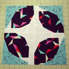 The finished Busy Block #thebeehive #blossomheartquilts