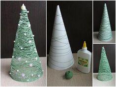 DIY Christmas Decorations - Thread Roll Christmas Tree