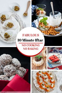 10 minute quick and easy Ramadan Recipes. Wow, no cooking or baking required for these fabulous Iftar recipes