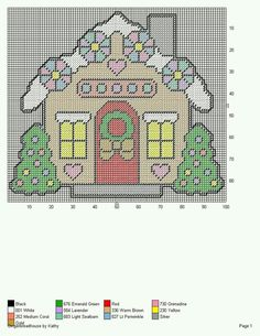 GINGERBREAD HOUSE 6 by KATHY -- WALL HANGING                                                                                                                                                                                 More