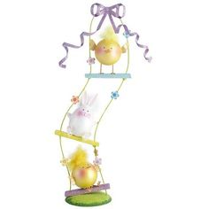 Stacked Chicks & Bunny Swing