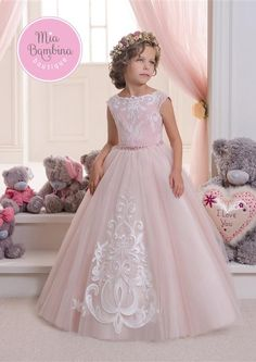 Hot Pretty Pink Lace Flower Girls Dresses For Weddings And Party Ball Gown Tulle Appliques Tank Cheap Girls Long Pageant Dress - Baby clothes, Kids Clothes, Toddler Clothes Kids Pageant Dresses, Gowns For Girls, Little Girl Dresses, Girls Dresses, Birthday Girl Dress, Birthday Dresses, Graduation Dresses, Tulle Flower Girl, Pink Flower Girl Dresses