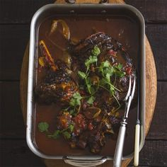 This slow roasted lamb shoulder with curry flavours is one of the most outstanding recipes we have developed this year. Slow Roast Lamb, Hot Desserts, Masala Spice, Traditional Taste, Lamb Shoulder, Lamb Dishes, Tomato Pesto, Lamb Shanks, South African Recipes