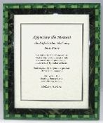 Italian Wood Inlay Picture Frame - Green, 8x10