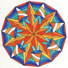 Mandala de juillet - ma version aquarellée