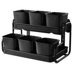 Mount on a wall or fence, grow herbs, kale, lettuces. Hang garden tools from the side bars. SOCKER Plant pot with holder - IKEA
