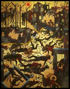 STELIOS FAITAKIS   The ultimate Greek contemporary painter: byzantijnse kunst + hedendaags > ook byzantijnen combineerden verschillende onderwerpen