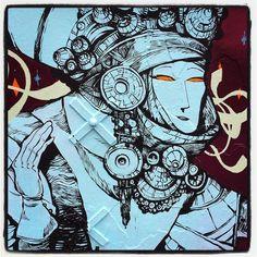 La Princesse Grenouille un conte russe vu en un mur de 40m par Rétro graffitism @ Paris  Photo : Lionel Belluteau Plus de photos très bientôt sur http://ift.tt/YMhG58  @retrograffitism #retrograffitism #graffiti #retro #paris #parisgraffiti #urbanart #wallpainting #artazoi #art_azoi #urbanartparis #graffuturism #unoeilquitraine #streetart #art #lionelbelluteau @unoeilquitraine